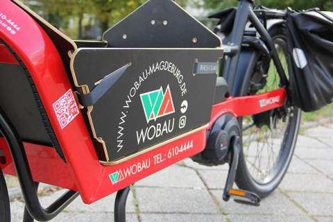Mit dem E-Bike für unsere Mieter*innen in Magdeburg unterwegs