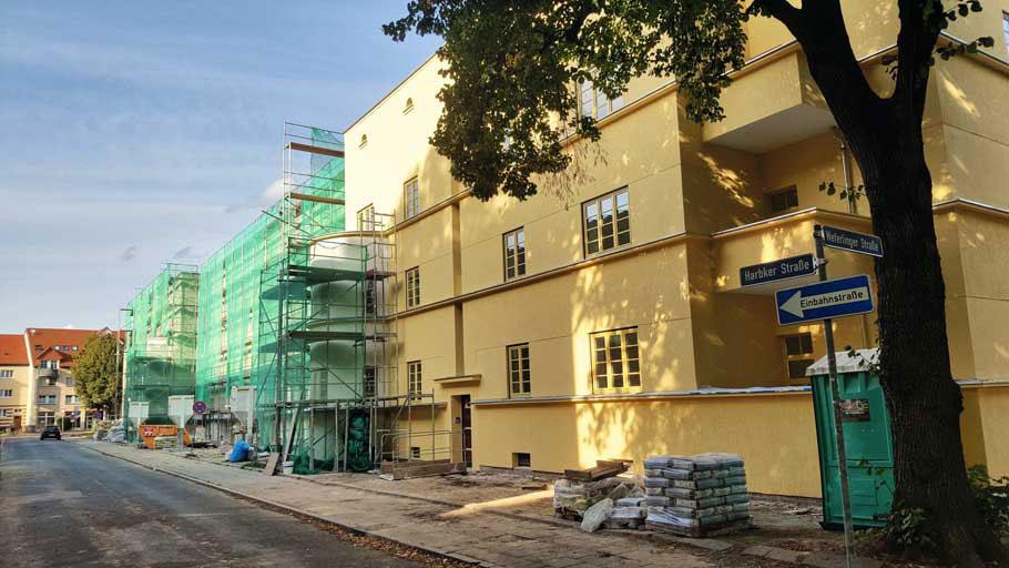 Beimssiedlung Harbker Straße Baustelle