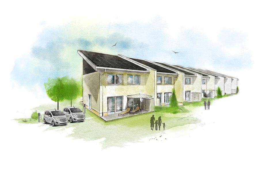 WOBAU Marderweg Architektenzeichnung