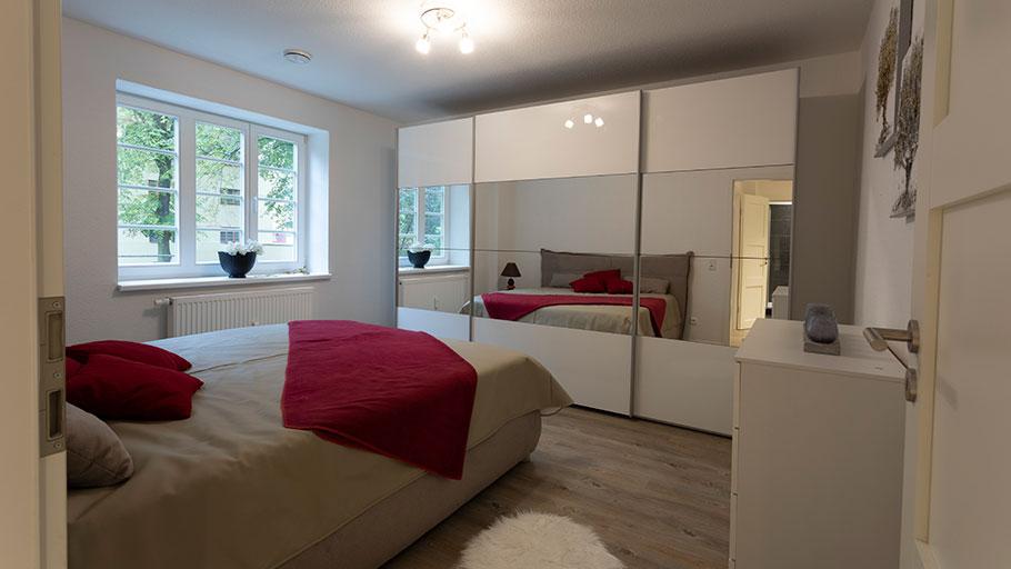 Beimssiedlung Musterwohnung Schlafzimmer
