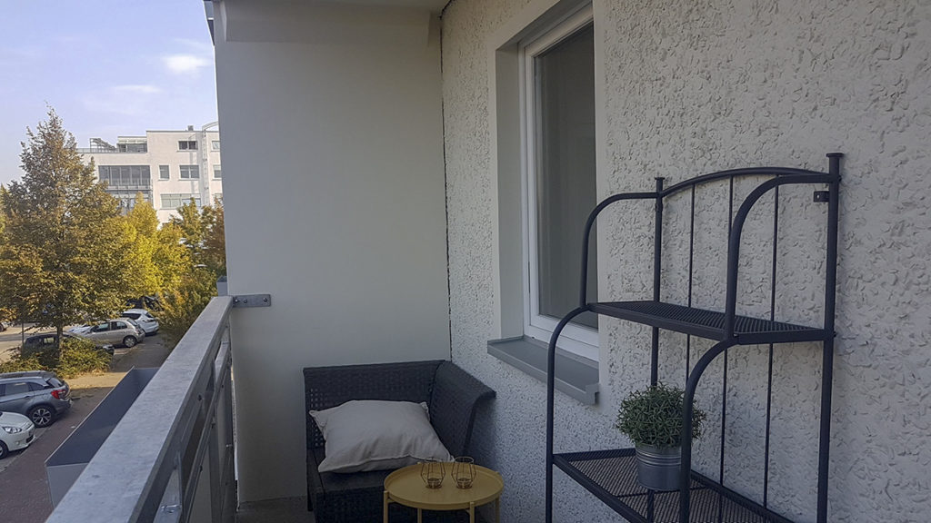 Balkon Seniorenwohnung WOBAU